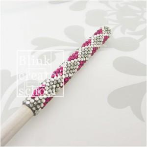 アーガイル柄のアートナイフ