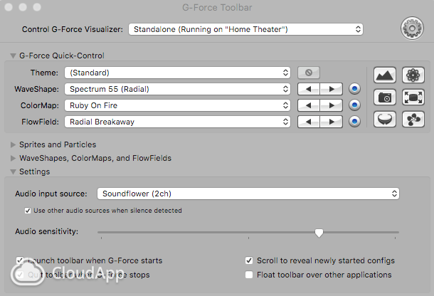 G-Force Toolbar