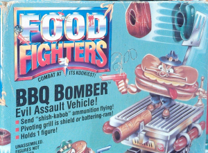 Mattel Food Fighters - BBQ Bomber Assault Vehicle!