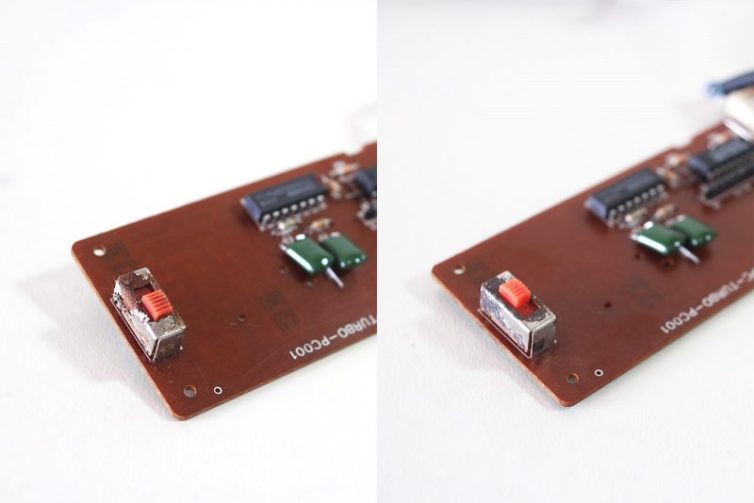 Removing corrosion on the slow-motion switch