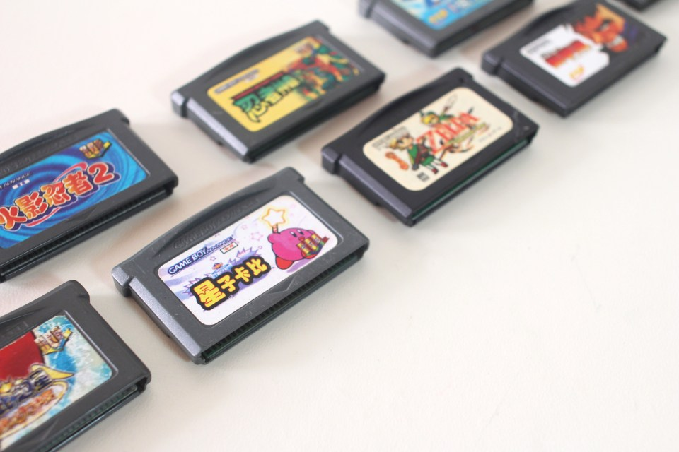 Chinese language Kirby bootleg for GBA
