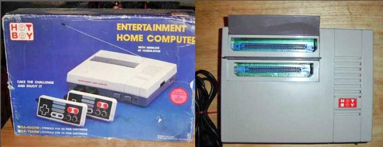 Dual Famicom/NES clone from Brazil