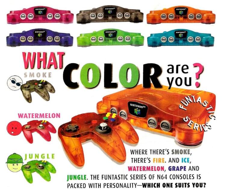 N64 Colors