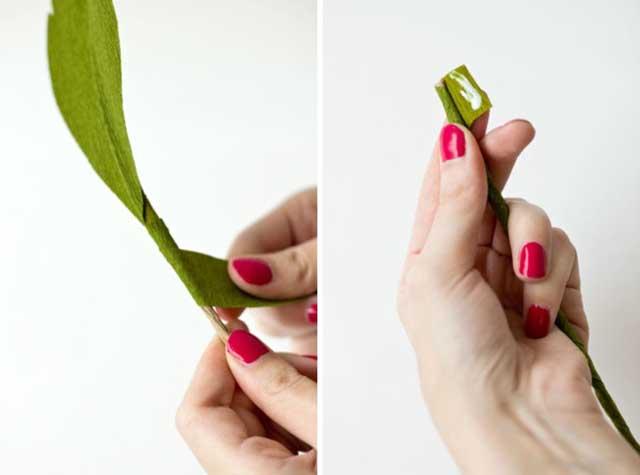 DIY GiantCrepePaperRoses 13 DIY ดอกกุหลาบขนาดยักษ์จากกระดาษย่น