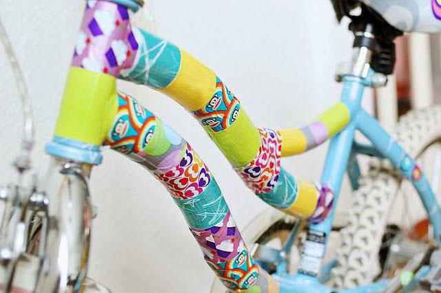 ตกแต่งจักรยานด้วยเทปกาว washi tape