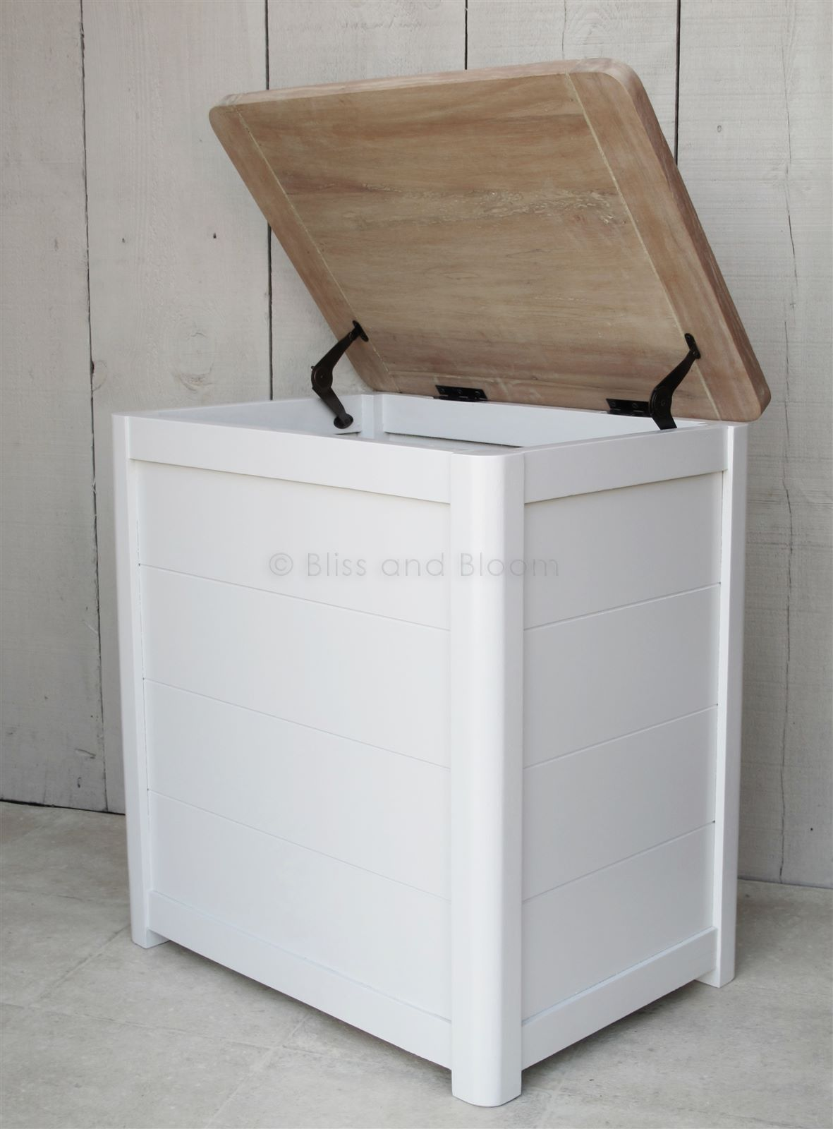 Wooden Laundry Linen Bin Medium Bliss And Bloom Ltd