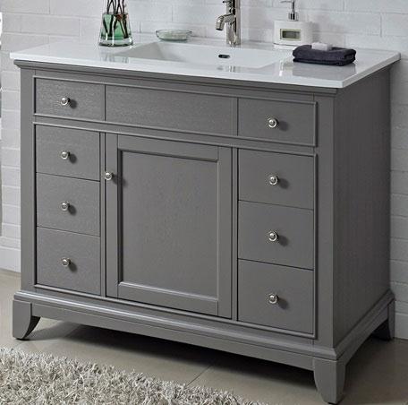 fairmont designs smithfield 42″ vanity – medium gray | bliss bath