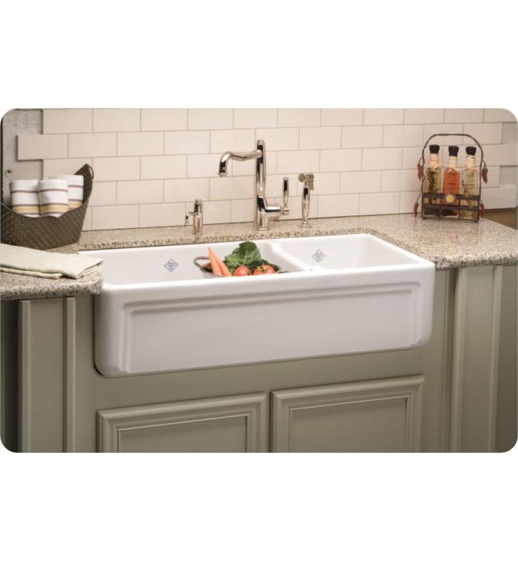 rohl shaw rc4018wh 40 egerton double bowl farmhouse fireclay kitchen sink
