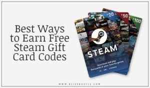 Earn Free Steam Gift Card Codes