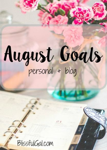 Setting goals for yourself is beneficial in so many ways.  Not only does it help to get things done, but it keeps you accountable when you write them down!