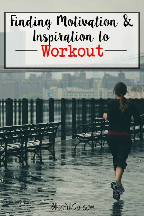I am currently working on finding motivation and inspiration to workout. What gets you moving?