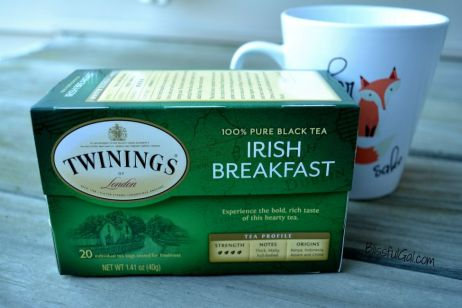 Irish breakfast tea is perfect for those cold fall mornings!