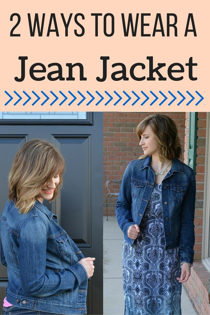 2 Ways to Wear a Jean Jacket- Jean Jackets are a perfect staple for any wardrobe. In the spring, weather changes so drastically, that having this light piece can be essential. Spice up any spring fashion wardrobe with a jean jacket that will go with almost anything!