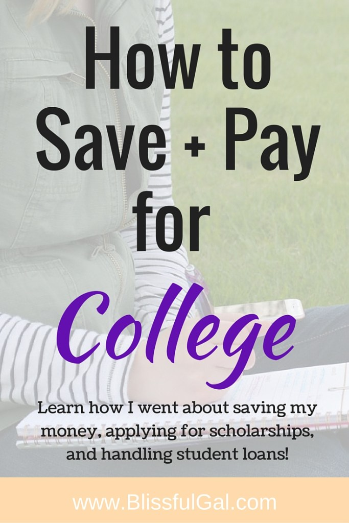 How to Save and Pay for College- Figuring out how to pay for college is something that college kids struggle with. There are so many different ways that you can save and pay for college, so I'm going to let you in on how I do it!