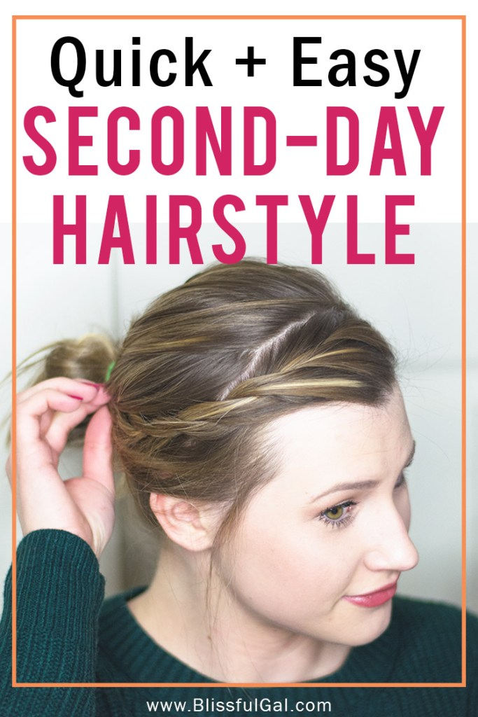 Easy Second Day Hairstyle | Easy Updo | Lazy Day Hair | Easy Hair Tutorial | College Hairstyles