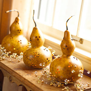 bhg gourds on a shelf