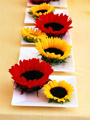 bhg cut flowers on dishes