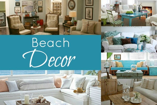 Beached Themed Living Room Decor