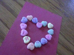 kids crafts Conversation Heart Tracing Activity For Preschoolers