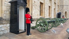 A guard inside the Tower of London.