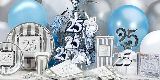 25th Anniversary party ideas, get the unique themes