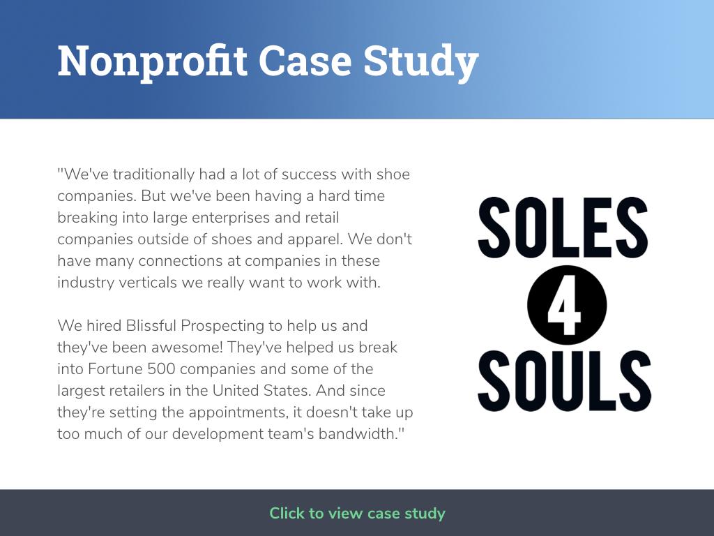 Nonprofit Case Study - Soles4Souls