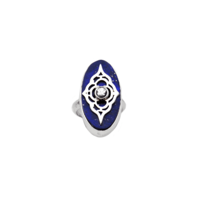 Sterling Silver and Lapis Moroccan Style Ring