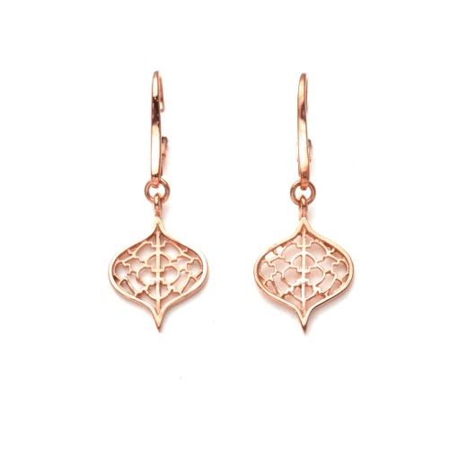 Rose Gold Saxon Earrings