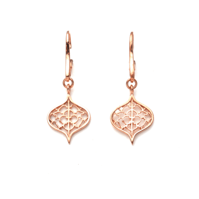 Rose Gold Saxon Earrings