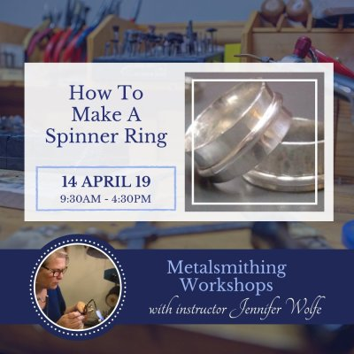 14 Apr 2019 | Spinner Rings Workshop Button | Bliss Jewellery
