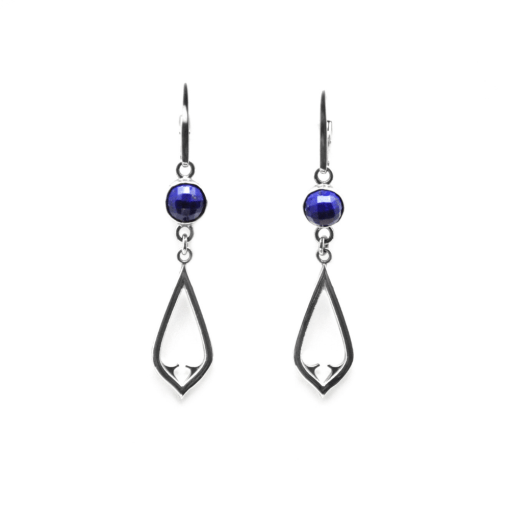 Checkerboard Lapis Architectural Earrings
