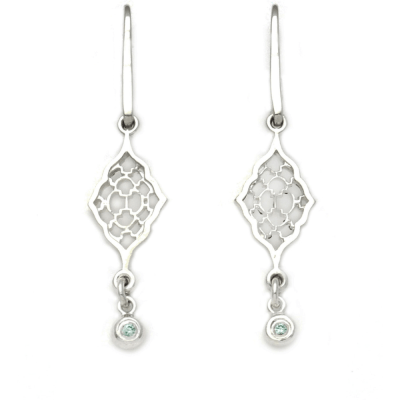 Moroccan Earrings with Blue Zircon