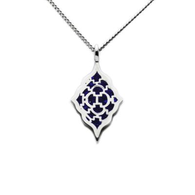 Moroccan Lapis inlay pendant