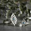 Sterling Silver Moroccan rings with Blue Topaz