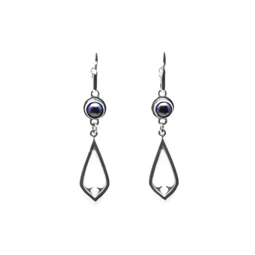 Peacock Pearl Architectural Earrings