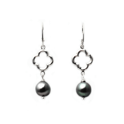 Quatrefoil Baroque Pearl Earrings