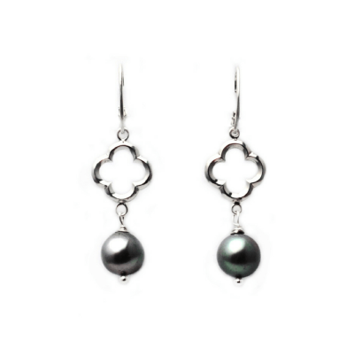 Quatrefoil Baroque Pearl Earrings