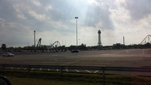 An early morning picture of Kings Island.