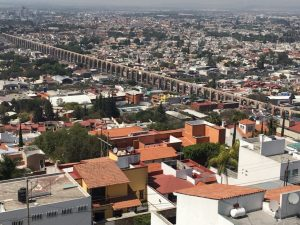A view of Queretaro, Mexico, from high up on a mountain.