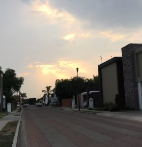A neighborhood sunset.