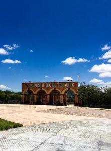 The entrance of Parque Bicentario in Queretero, Mexico