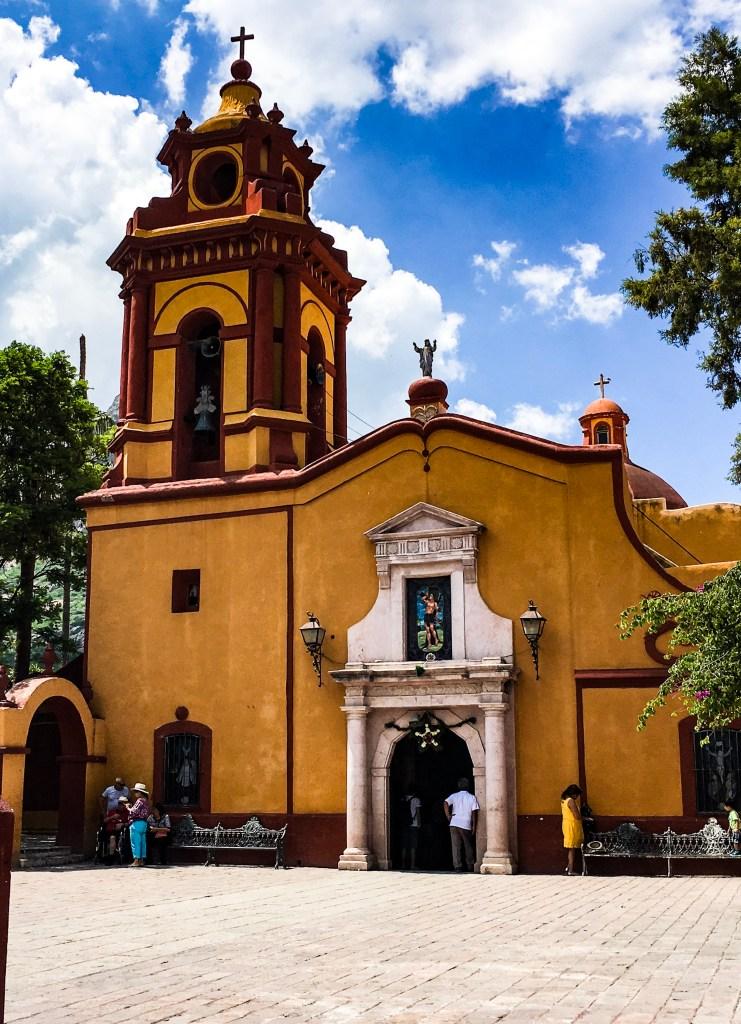 Templo de San Sebastian in Bernal San ebastian.
