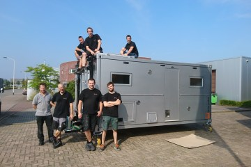 Bliss Mobil team with our unit.