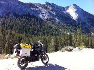 My BMW F800GS enjoying a rest in Yosemite National Park, California.