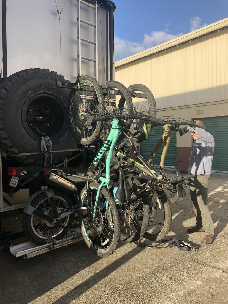Bikes on the Drayton rack
