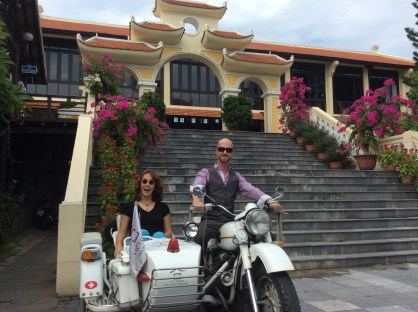 One Of The Sidecar Motorbikes Outside Victoria Hoi An