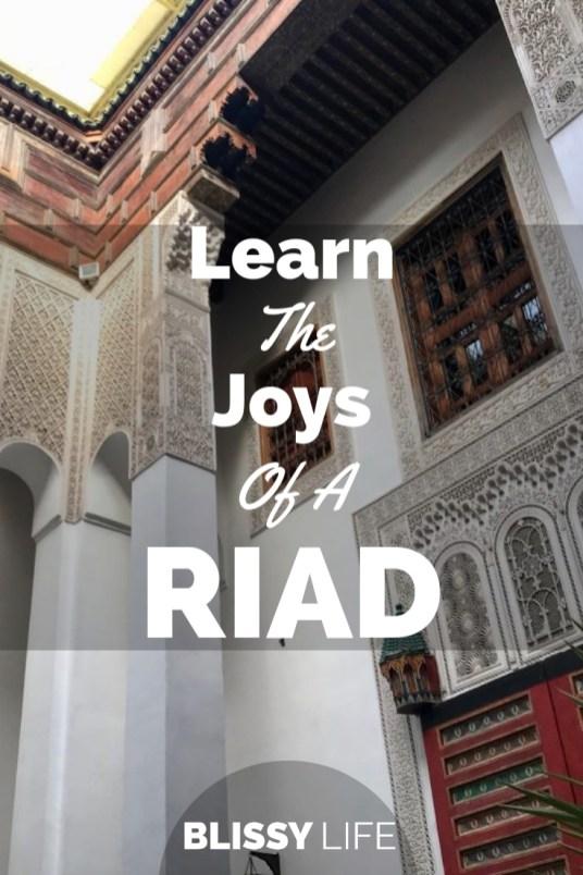 Learn The Joys Of A RIAD