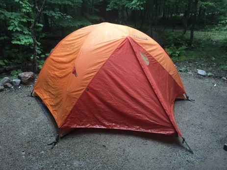 soggy tent