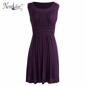 nemidor-2016-spring-summer-women-elegant-o-neck-retro-pleated-swing-dresses-casual-sleeveless-midi-party