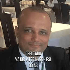 Deputado Major Vitor Hugo – PSL – Consultor legislativo na Câmara dos Deputados e Major do Exército.